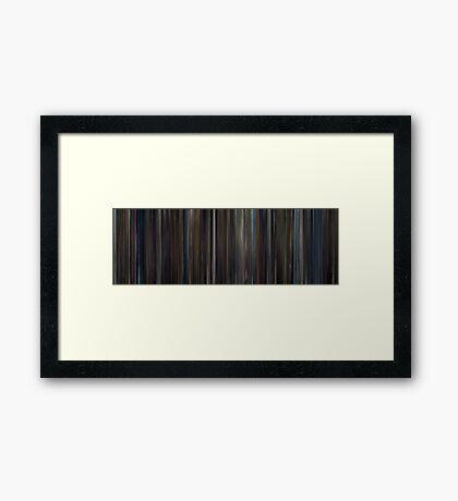 Moviebarcode: Hugo (2011) Framed Print