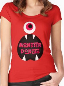 MoNsTeR DoNuTs CoLoR Women's Fitted Scoop T-Shirt