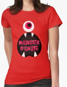 MoNsTeR DoNuTs CoLoR Womens Fitted T-Shirt