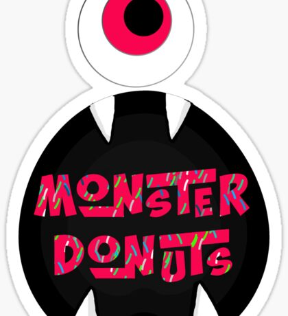 MoNsTeR DoNuTs CoLoR Sticker