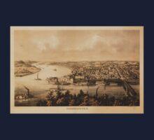 Panoramic Maps Parkersburg Kids Tee