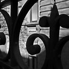 wrought iron fence  by Sherie Howard