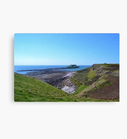 Worm's Head with causeway, Gower Peninsula Canvas Print