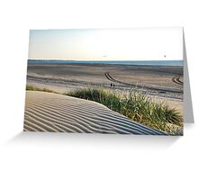 View over our North Sea Beach... Greeting Card