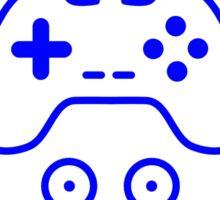 Blue Circuit Gamer Sticker