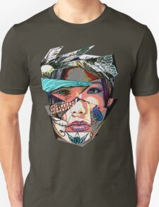 Female Face Fragments Collage T-Shirt