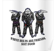 White belts are friends not food Poster