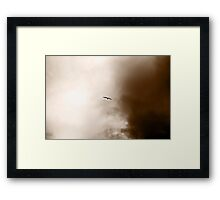 On the Wings of a Storm Framed Print