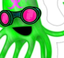 Nuclear Rave Squid Sticker