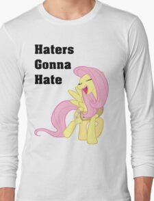 Fluttershy Haters Gonna Hate T-Shirt Long Sleeve T-Shirt