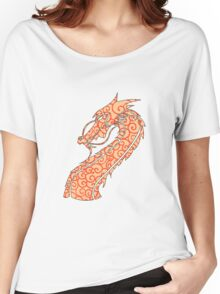 Dragon Swirls Red  Women's Relaxed Fit T-Shirt