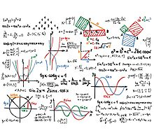 Mathematics Formulas Numbers  Photographic Print