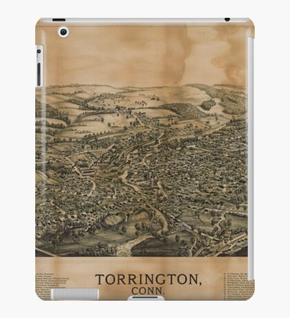Panoramic Maps Torrington Conn1889 iPad Case/Skin