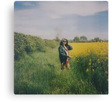 Rapeseed Field Portrait Canvas Print