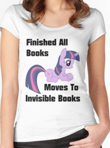 Twilight Sparkle Books T-Shirt Women's Fitted Scoop T-Shirt