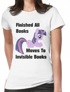 Twilight Sparkle Books T-Shirt Womens Fitted T-Shirt