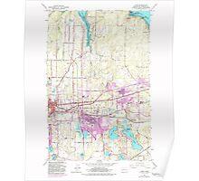 USGS Topo Map Washington State WA Lacey 241849 1959 24000 Poster
