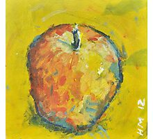 Apple on Yellow Photographic Print