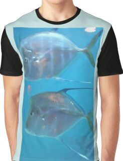 Flat Fish Under the Sea Graphic T-Shirt