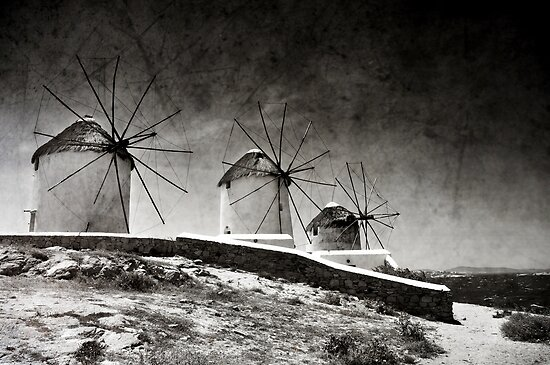 The windmills of Mykonos 2 by Laura Melis