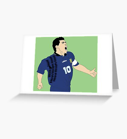 Maradona World Cup '94 Greeting Card