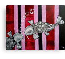 2 Koi Fish In Love Canvas Print