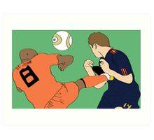 De Jong Final Kick Art Print