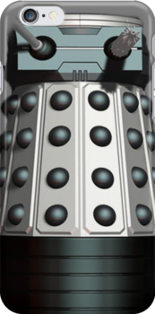 Doctor Who Inspired: Dalek Iphone case - White by kevinlartees