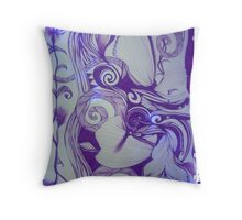 Papatuanuku Blue Period Throw Pillow