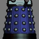 Doctor Who Inspired: Dalek Iphone case - Blue by kevinlartees