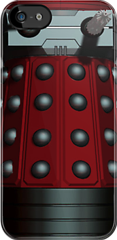 Doctor Who Inspired: Dalek Iphone case - Red by kevinlartees