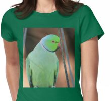 Indian Ringneck Parrot in my garden Womens Fitted T-Shirt