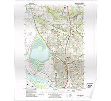 USGS Topo Map Washington State WA Vancouver 244456 1990 24000 Poster