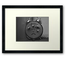 Afraid Clock Framed Print