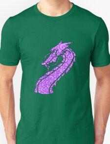 Dragon Swirls Purple  Unisex T-Shirt