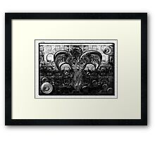 ©DA Exist Not Be Fractal IAH2 Monochrome Framed Print