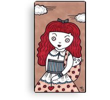 Crimson Curl Canvas Print