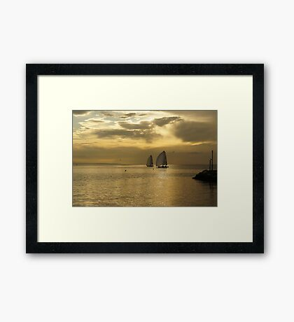 Ouchy - Sunset Framed Print