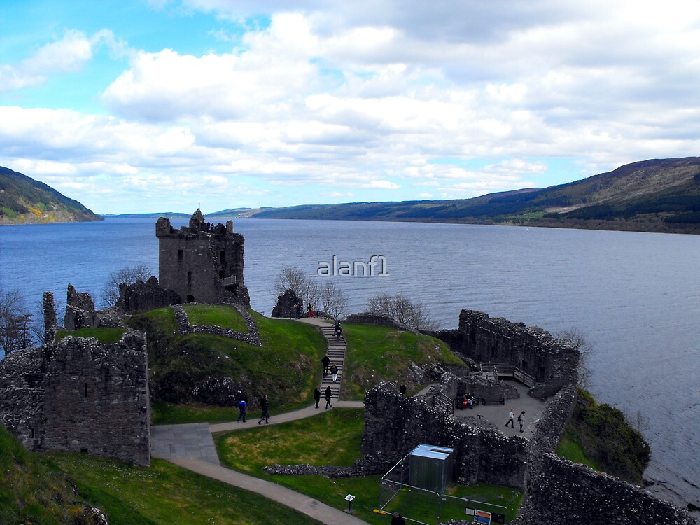 Loch Ness from Urquhart Castle by alanf1