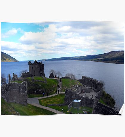 Loch Ness from Urquhart Castle Poster
