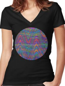 Wave Ensemble Women's Fitted V-Neck T-Shirt