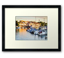 South Haven, Michigan From the Drawbridge Framed Print