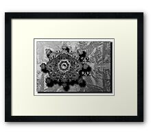 ©DA Fractal Of Sound IA Monochrome Framed Print
