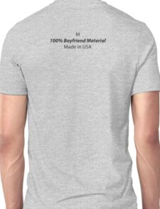 Mens (Medium) 100% Boyfriend Material Unisex T-Shirt