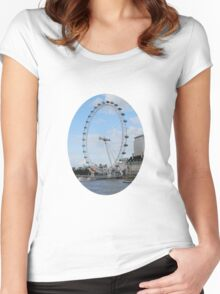 London - Eye in Britain Women's Fitted Scoop T-Shirt