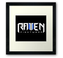 Raven fightwear Framed Print
