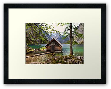 Framed boathouse by Béla Török