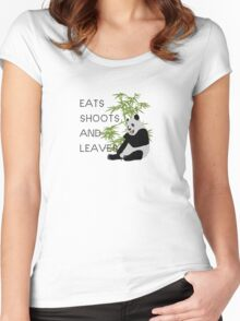 Eats, Shoots and Leaves Women's Fitted Scoop T-Shirt
