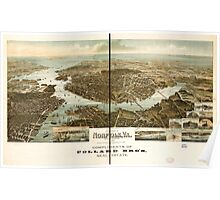 Panoramic Maps Panorama of Norfolk and surroundings 1892 Poster