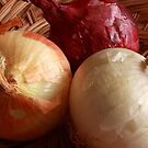 Red, White and Yellow Onions by Robert Armendariz